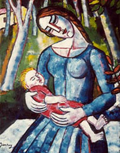 Tibor Jankay, Woman and Child.